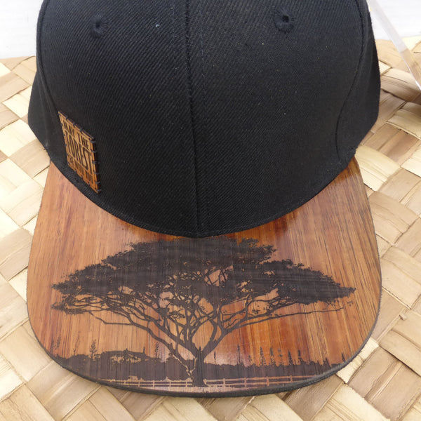 """May the forrest be with you."" Koa wood hat made in Kauai by Calabash, a great gift from Kaua'i, Hawaii"