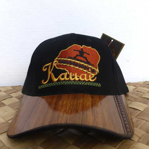 Koa wood hat made in Kauai by Calabash, a great gift from Kaua'i, Hawaii