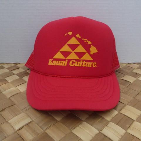 Kauai Culture Trucker Red