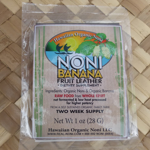 Noni Banana Fruit Leather