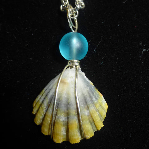 Kauaian sunrise shell necklace, moon rise version