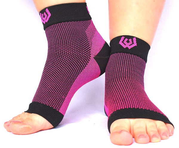 Compression Recovery Foot Sleeve - Pink