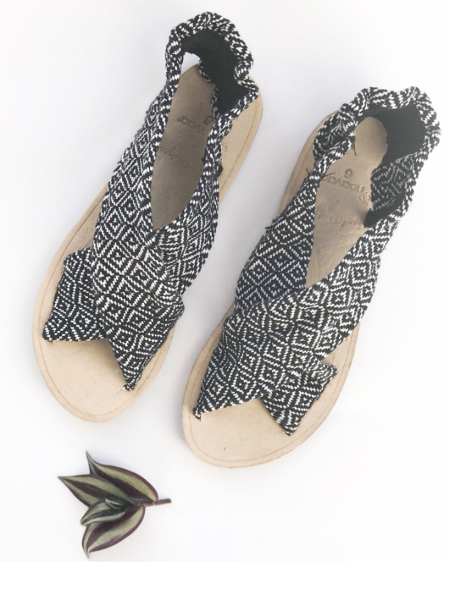 Cloth Sandals that don't cause blisters. Comfortable handmade sandals.