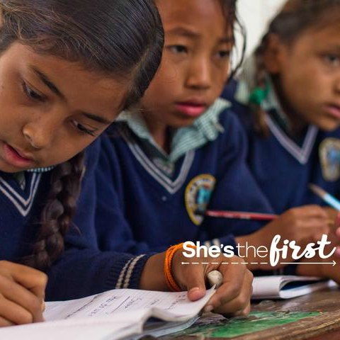 We donate to She's the First to help girls around the world get educational scholarships. We give back.