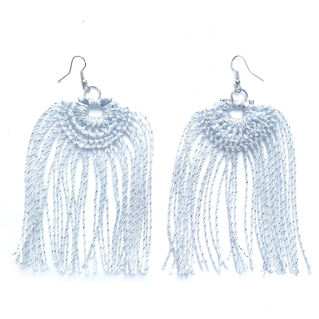 Willow White Earrings