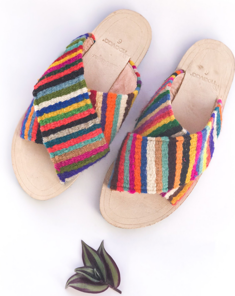 Rainbow Criss Cross Sandals