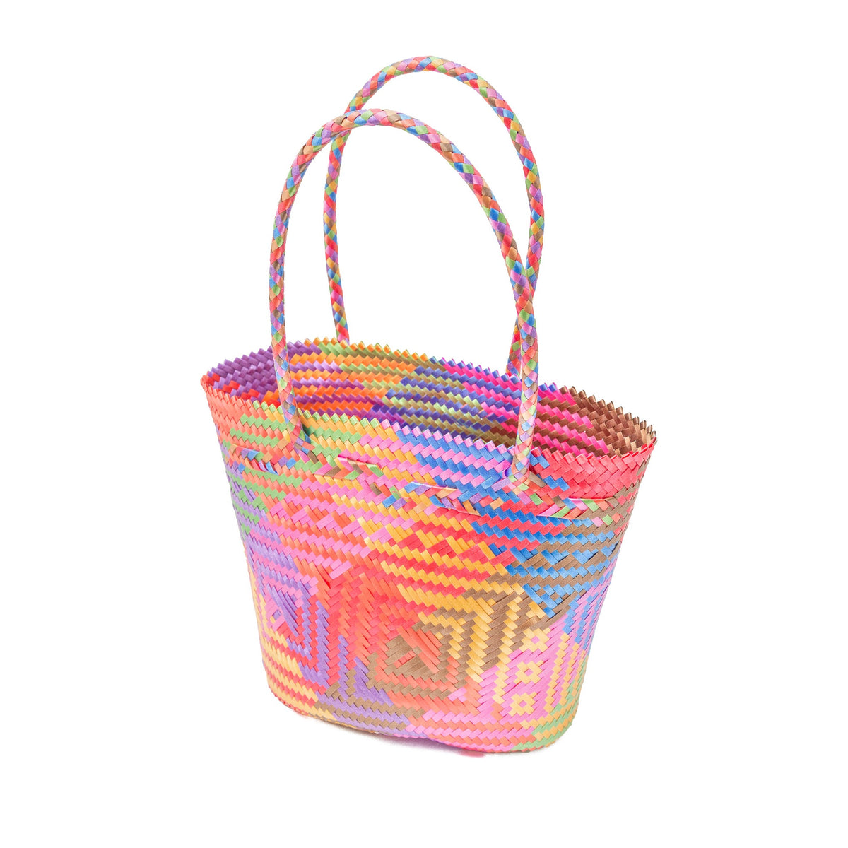 Petite Multicolored Recycled Plastic Tote
