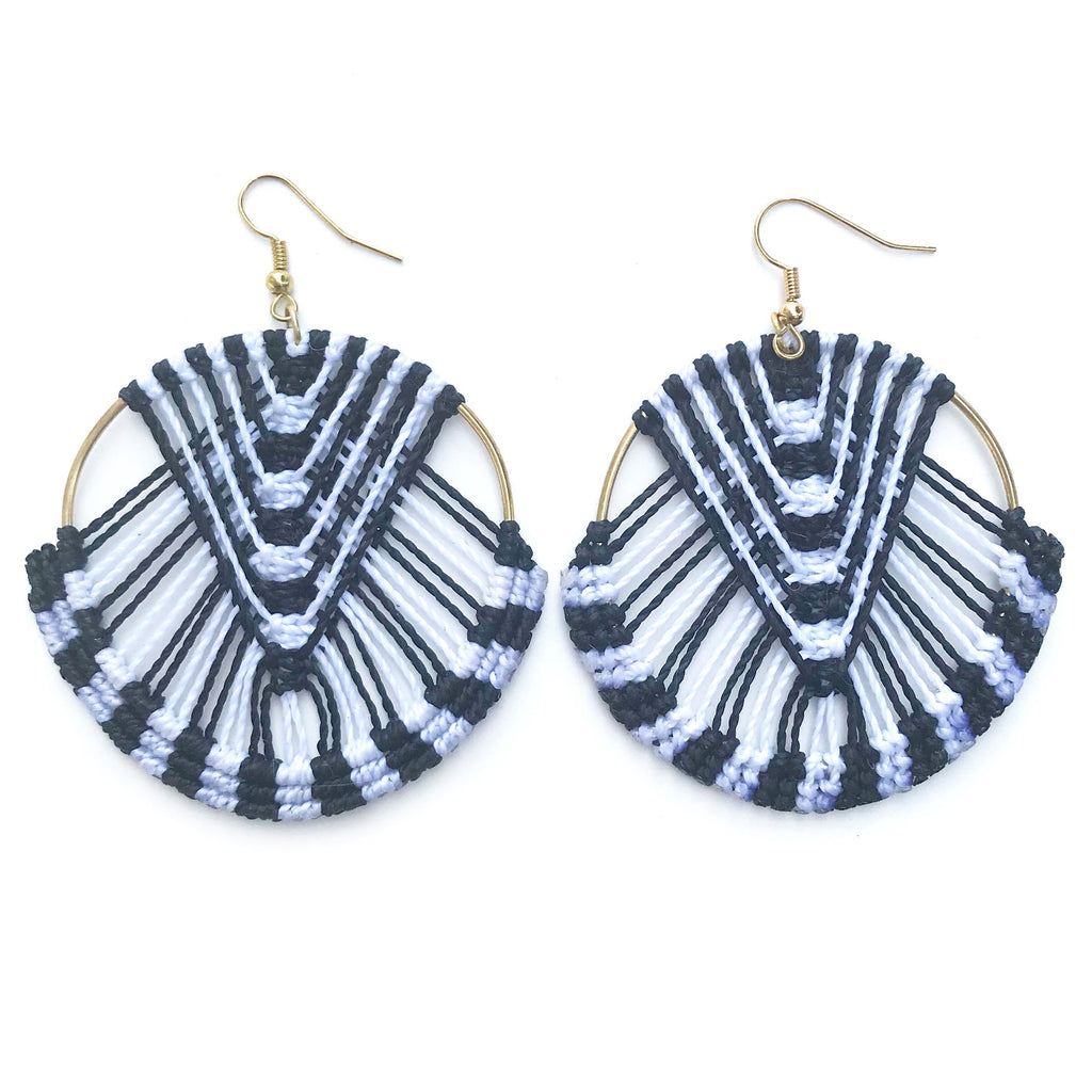 City Earrings Black & White
