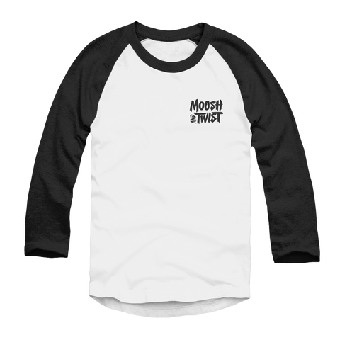 Moosh & Twist Logo Raglan - Moosh and Twist Official Store and Tour Merch -- All Of A Sudden -- Out Now
