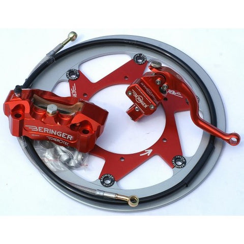 Beringer Supermoto Top Race Brake Kit: 6 Piston Caliper, Master Cylinder and Disc - Honda, Suzuki, Yamaha, KTM, Kawasaki, more