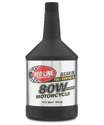 Redline 80W Motorcycle Gear Oil with ShockProof®