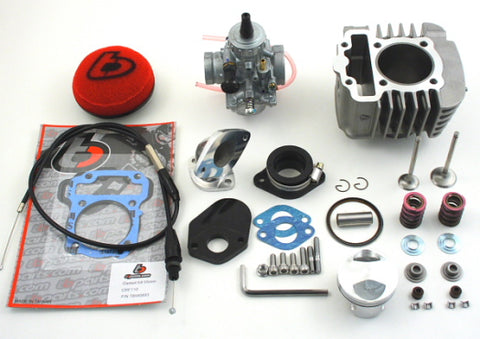 TB 132cc Big Bore Kit, 26mm Mikuni VM26 Carb Kit, & Big Valve Kit