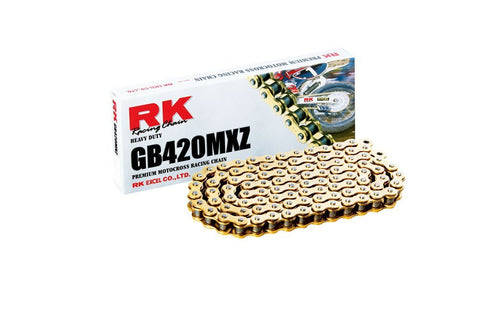 RK Racing Chain GB420MXZ Gold 110-Links Heavy Duty Chain with Connecting Link