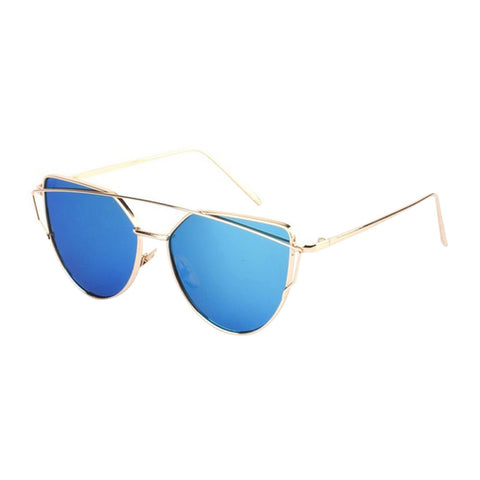 Cat Eye Sunglasses Gold