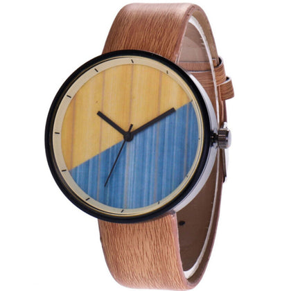 Wood Grain Two Tone Watch
