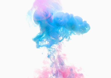 Two colors exploding