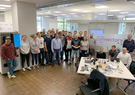 Developers at the Bosch Connectory Hackathon 2019