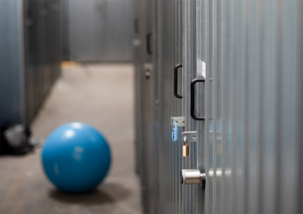 A self storage unit with smart lock