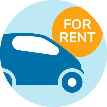 Icon about car rental
