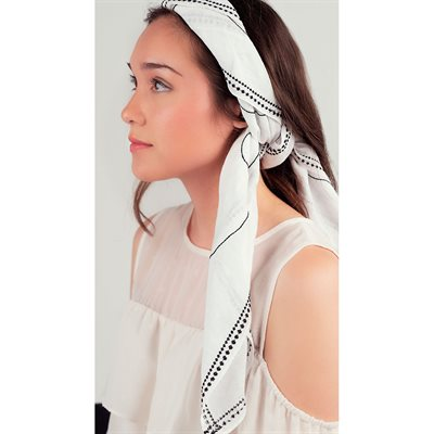 OTHERS Lily Qian Embroidered Scarf