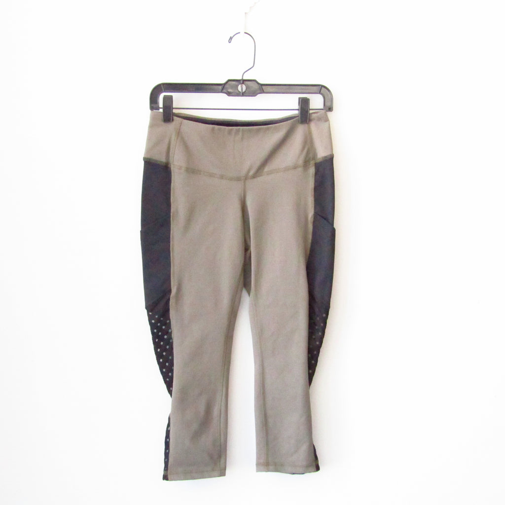 AFC -  Side Mesh Pocket Legging - Latte/Black