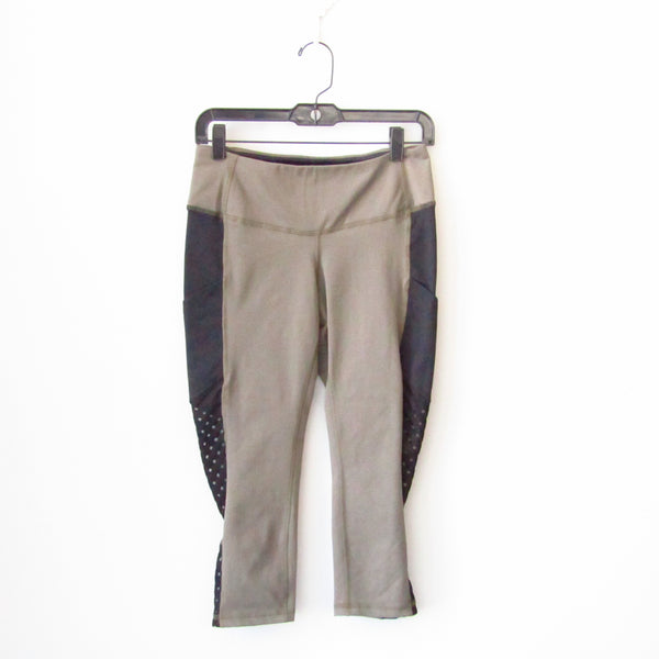 AFC Side Mesh Pocket Legging - Latte/Black