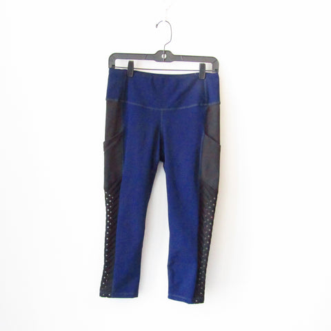 AFC Side Mesh Pocket Legging - Navy/Black