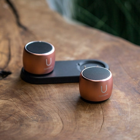 U Pro Speakers Rose Gold- with Charging Tray - U Speakers