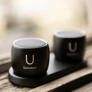 U Pro Speakers Black- with Charging Tray - U Speakers
