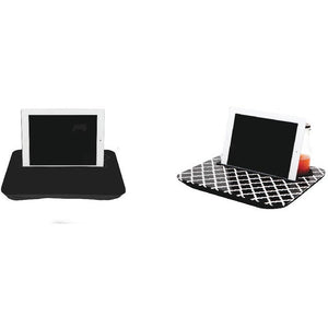 Geometric Black and White Tablet Tray