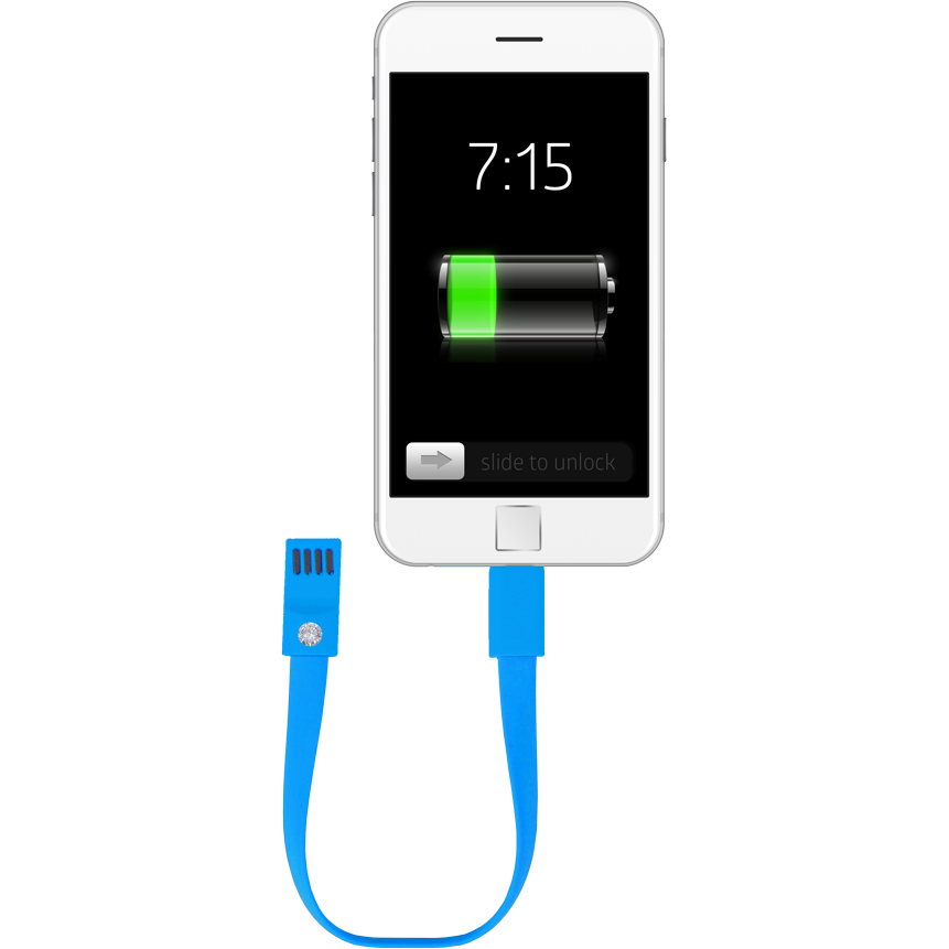 Fashionit Cable Bracelet for iPhone in Blue