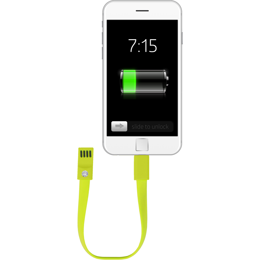 Fashionit Cable Bracelet for Android in Green
