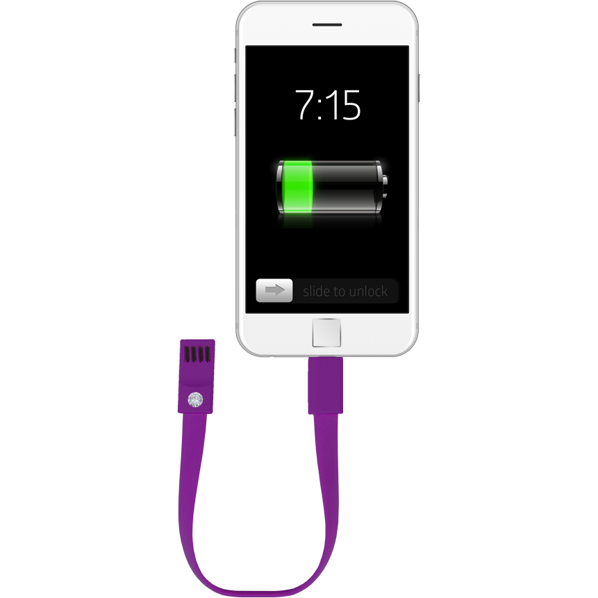 Fashionit Cable Bracelet for Android in Purple