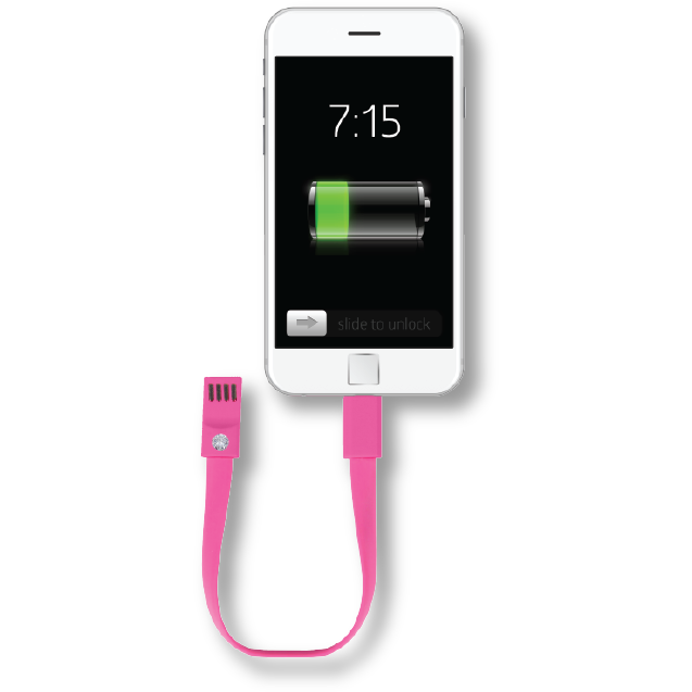 Fashionit Cable Bracelet for iPhone in Pink