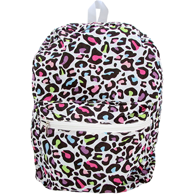 Folding Backpack in Colorful Leopard|Bags - Fashionit_inc