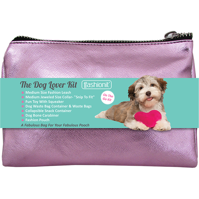 Dog Lover Kit in Pink for all your dog must haves