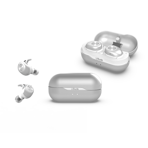 U BUDS SILVER- Wireless Stereo Earbuds|Tech - Fashionit USpeakers