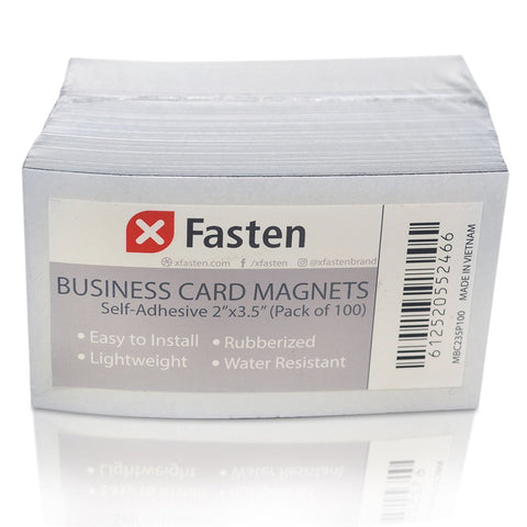 Tips instructions for xfasten magnetic business cards 2 inch x 35 i prepare and print the card which you are adhering to the magnetic business card make sure that the surface is clean and dust free before mounting the colourmoves