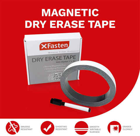 Click here to Purchase the XFasten Magnetic Dry Erase Tape