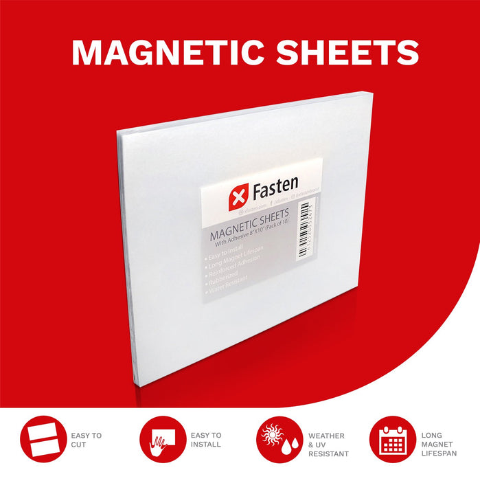 XFasten Magnetic Sheets 8 x 10 Inch 20mil (Set of 10)