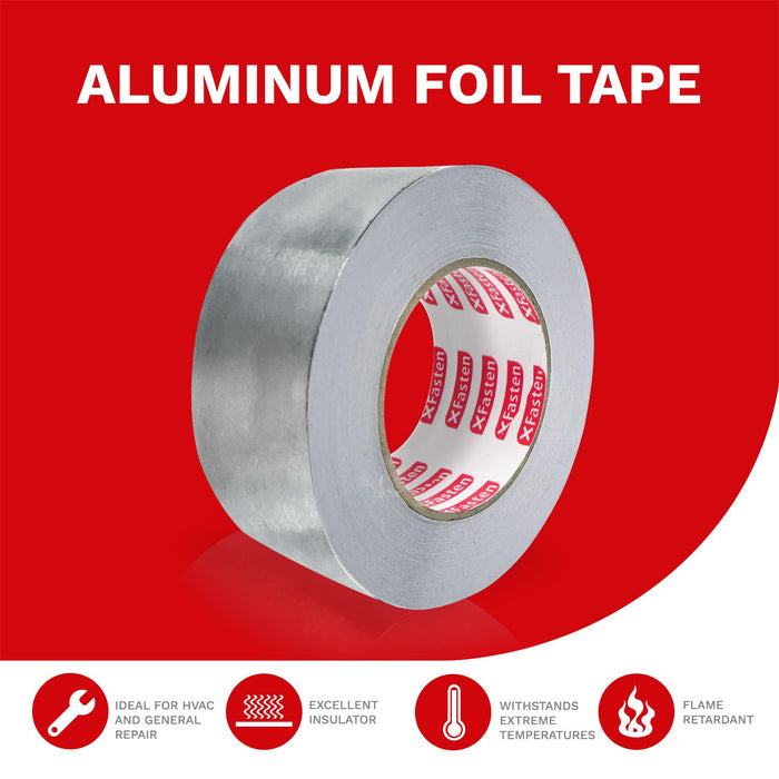 XFasten Professional Aluminum Foil Tape, 3.6 mil, 2 Inches x 55 Yards - XFasten