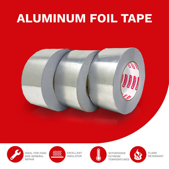 "XFasten Aluminum Foil Tape, 3.6 mil, 2""x 55 Yards (3-Pack)"