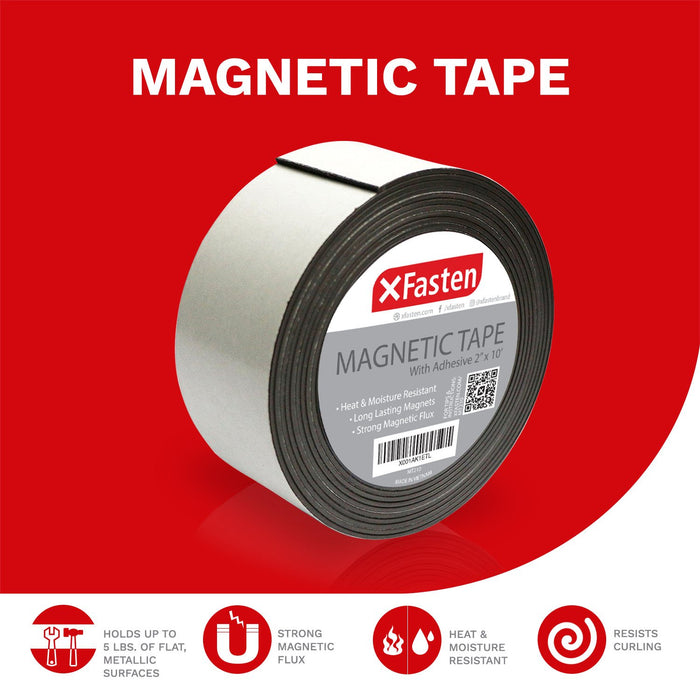 XFasten Magnetic Tape, 2-Inch x 10-Foot - XFasten