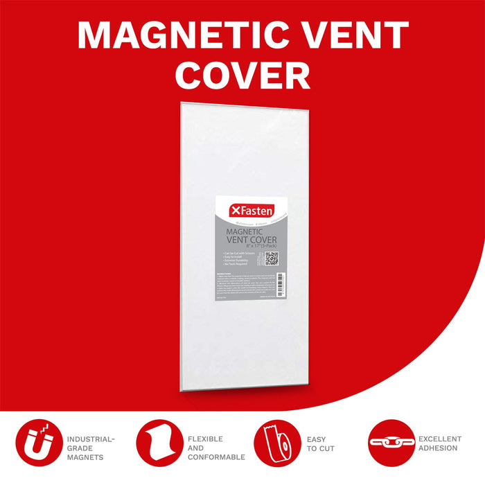 "XFasten Magnetic Vent Cover, 8"" x 17"" (Pack of 5)"