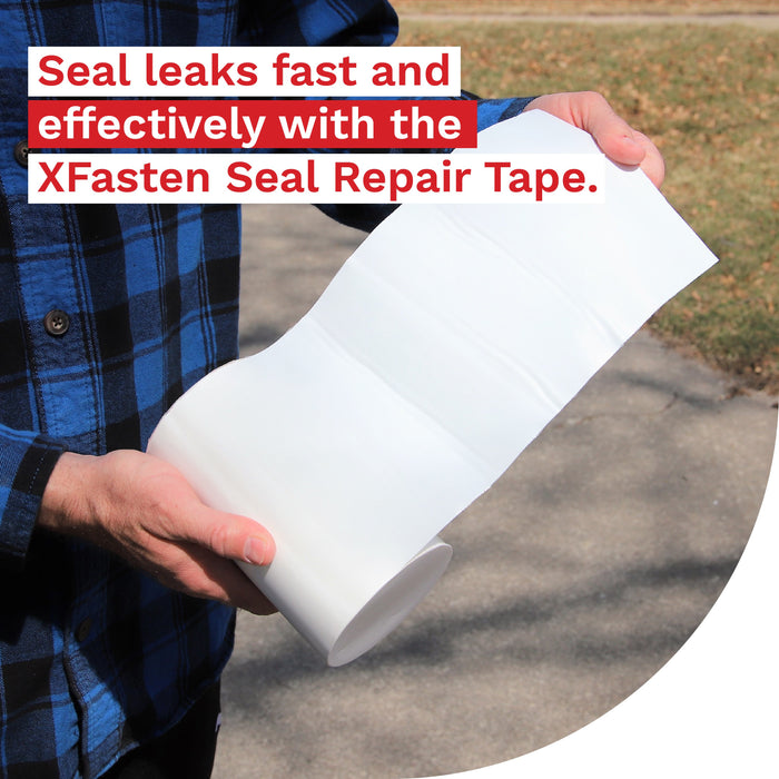 XFasten Seal Repair Tape, White, 6-Inch x 5-Foot - XFasten