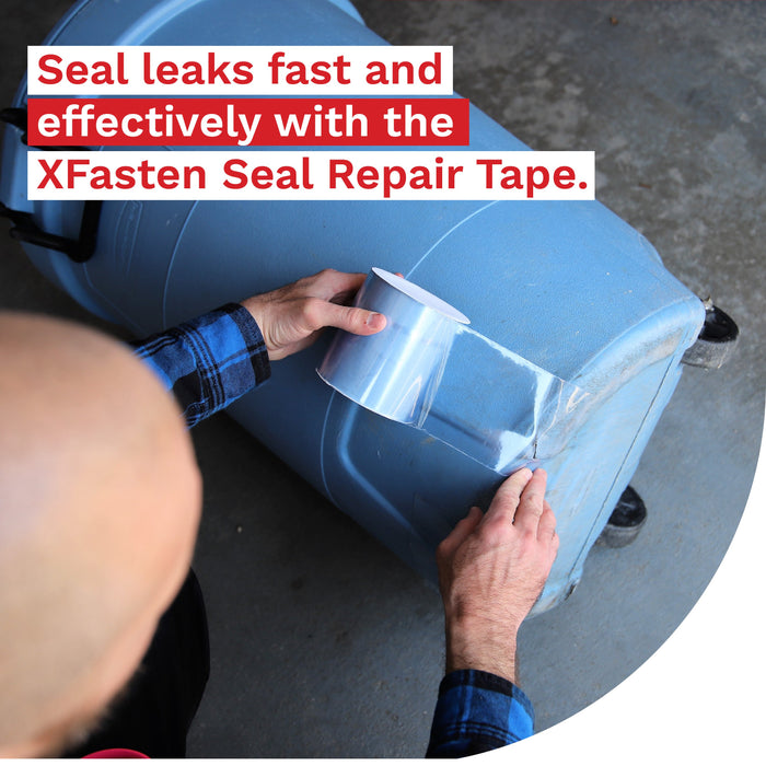 XFasten Seal Repair Tape, Clear, 4-Inch x 10-Foot - XFasten