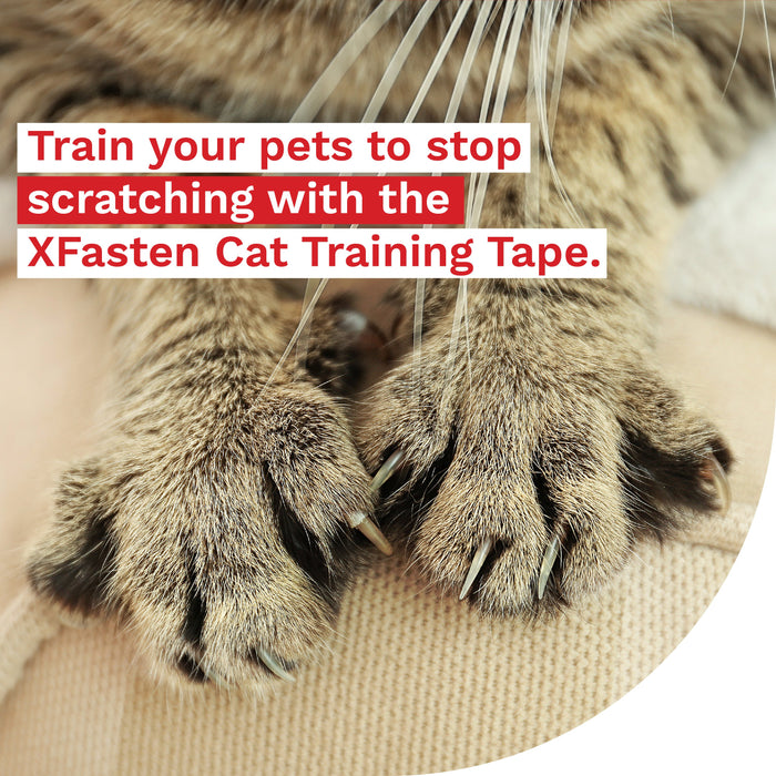 XFasten Anti-Scratch Cat Training Tape, Clear, 2-Inches x 30 Yards (Single Roll) - XFasten