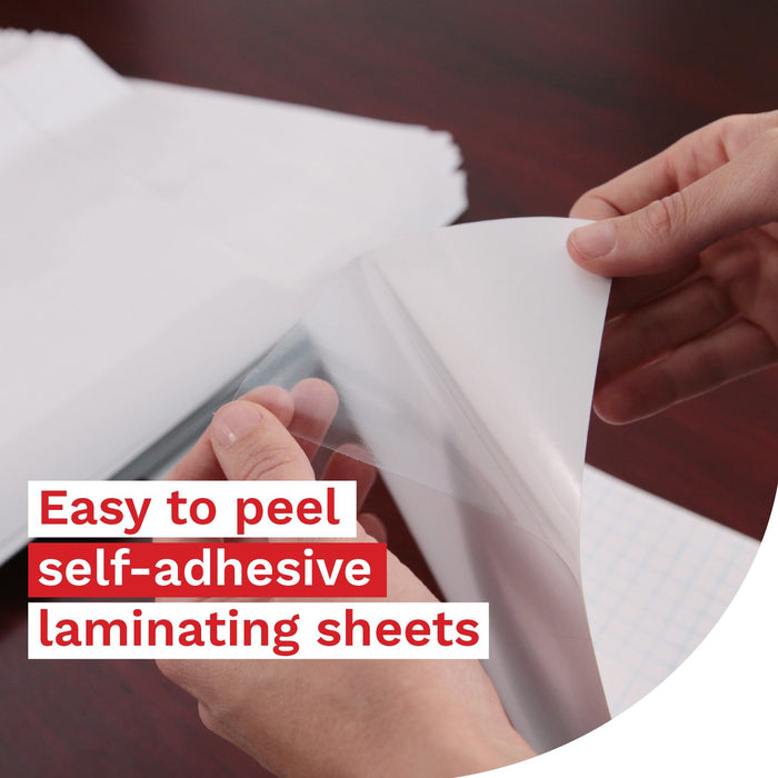 XFasten Self-Adhesive Laminating Sheets, 9 x 12 Inches, Pack of 100