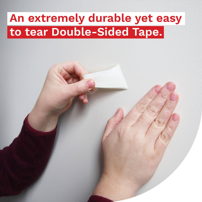 XFasten Tear-by-Hand Double Sided Tape, 3/4-Inch by 20-Yards (3-Pack) - XFasten