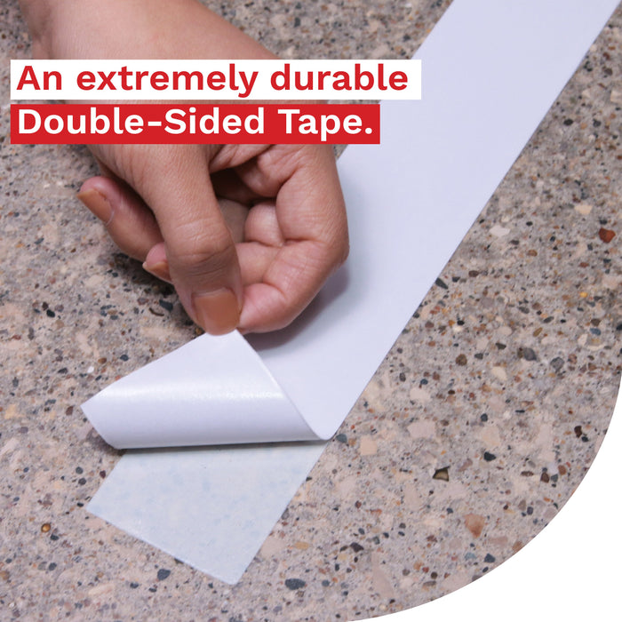 XFasten Extra Sticky Double-Sided Tape, White, 2-inch x 15-Yards